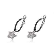 93750 Simple design  Stainless Steel jewelry charm star shaped clip on earrings